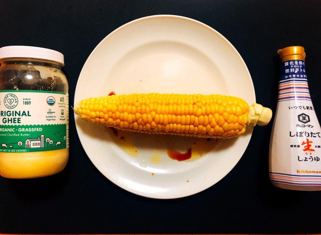 ギーバターでトウモロコシ生絞り醤油バター