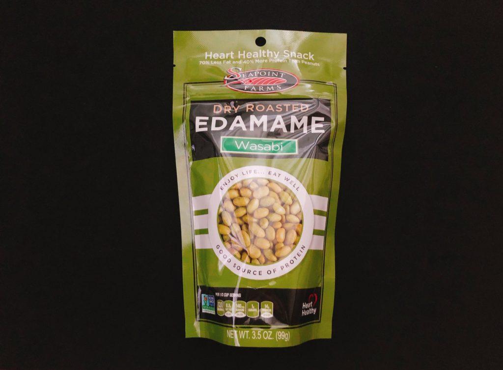 シーポイントファームズのワサビ味の枝豆の袋表