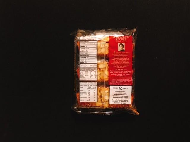 アーモンディーナのピスタチオ味の袋裏