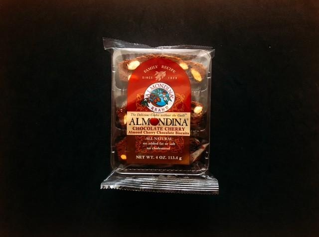 アーモンディーナのチェリーチョコビスケットの袋表