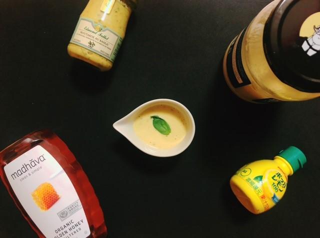 バジルマスタードと使用した調味料