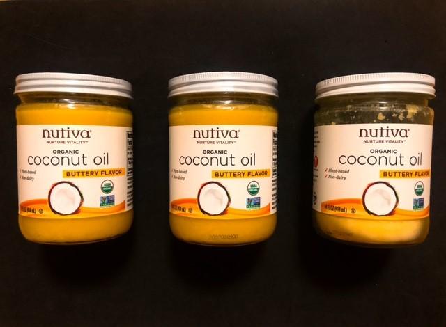 nutivaヌティバのバター風味ココナッツオイルのストック