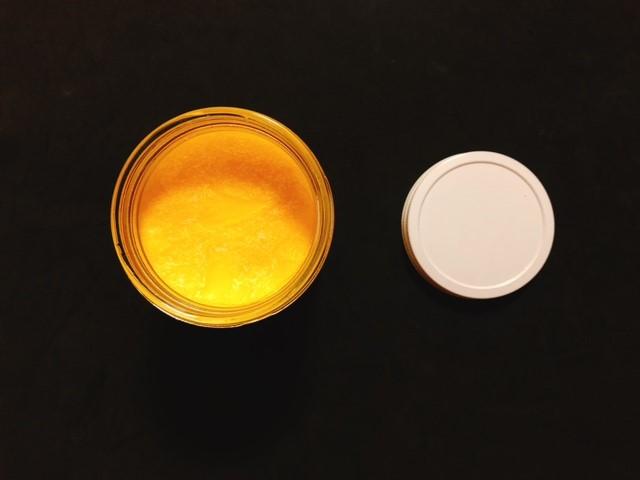 nutivaヌティバのバター風味ココナッツオイルが固まっている