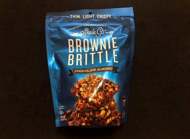 ブラウニーブリトルにチョコチップアーモンドの袋表