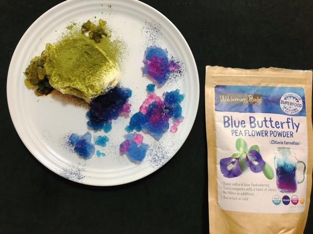 バタフライピーと使って紫陽花ゼリー